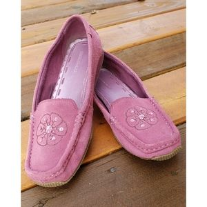 Predictions Mauve Leather Moccasins Loafers 9.5M